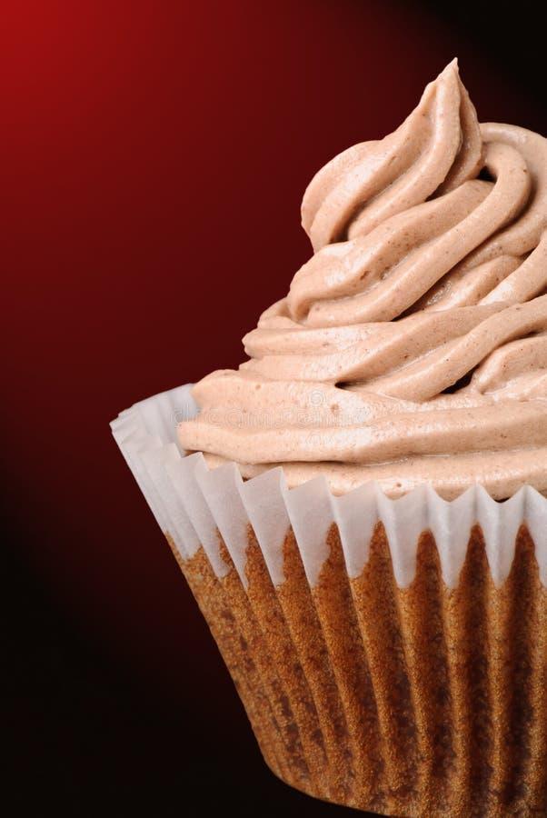 iced chokladmuffin royaltyfri foto