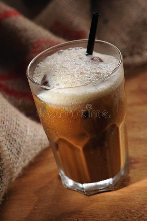 Download Iced Coffee stock image. Image of gunny, wood, beverage - 16684093
