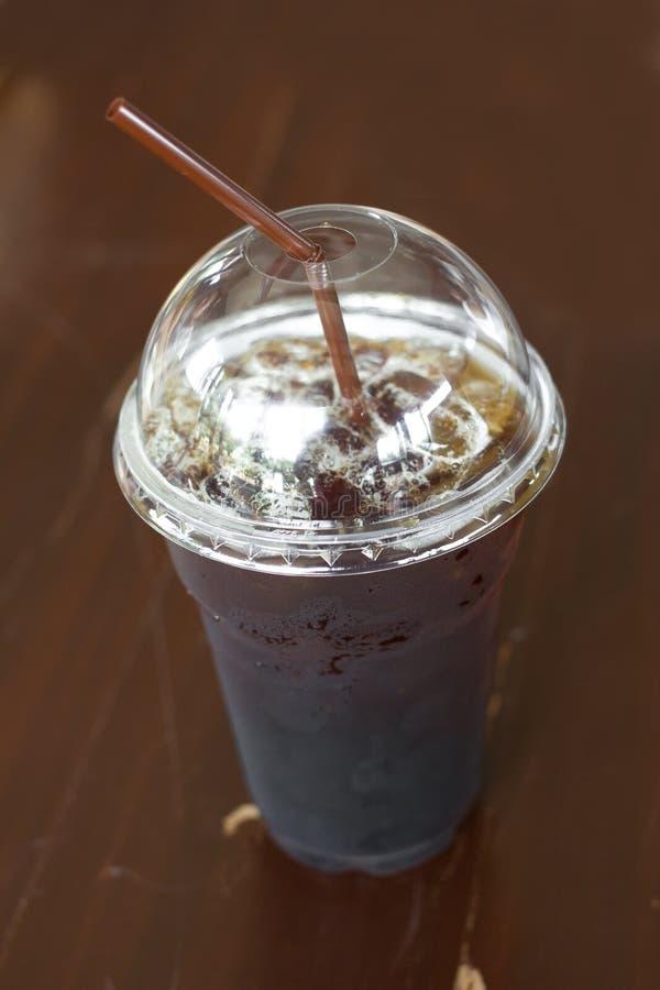 Iced Coffee Americano Or Iced Black Coffee. Stock Photo ...