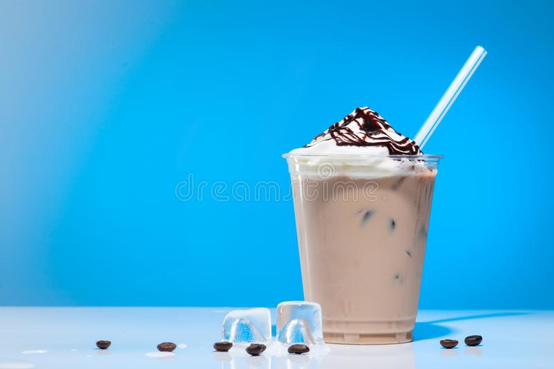 iced coffee with ice-cream stock image