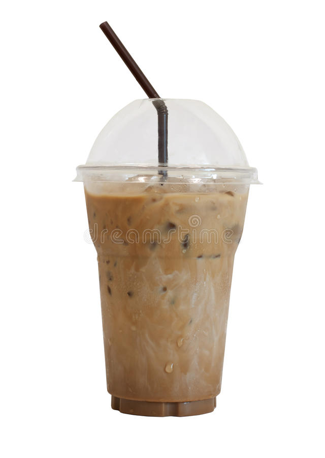 Iced Coffee. Isolated On White Background royalty free stock images