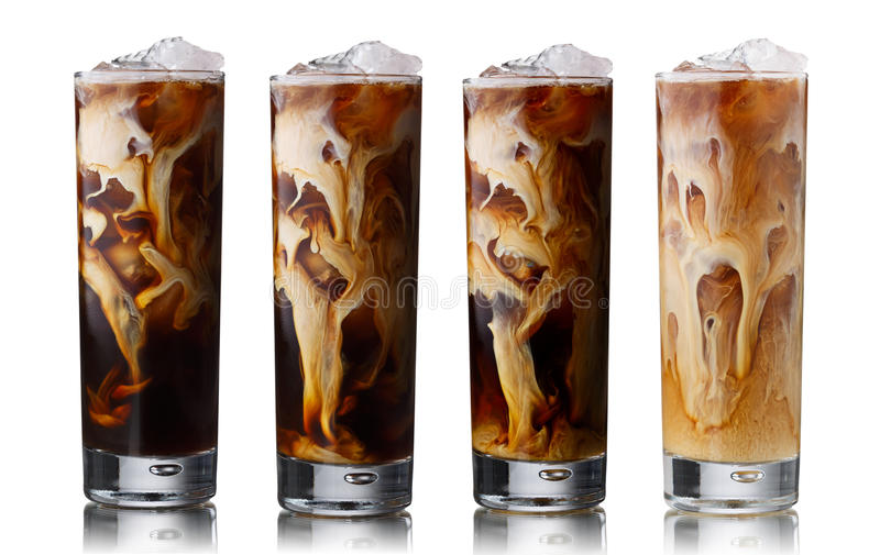 Iced coffee set royalty free stock photography