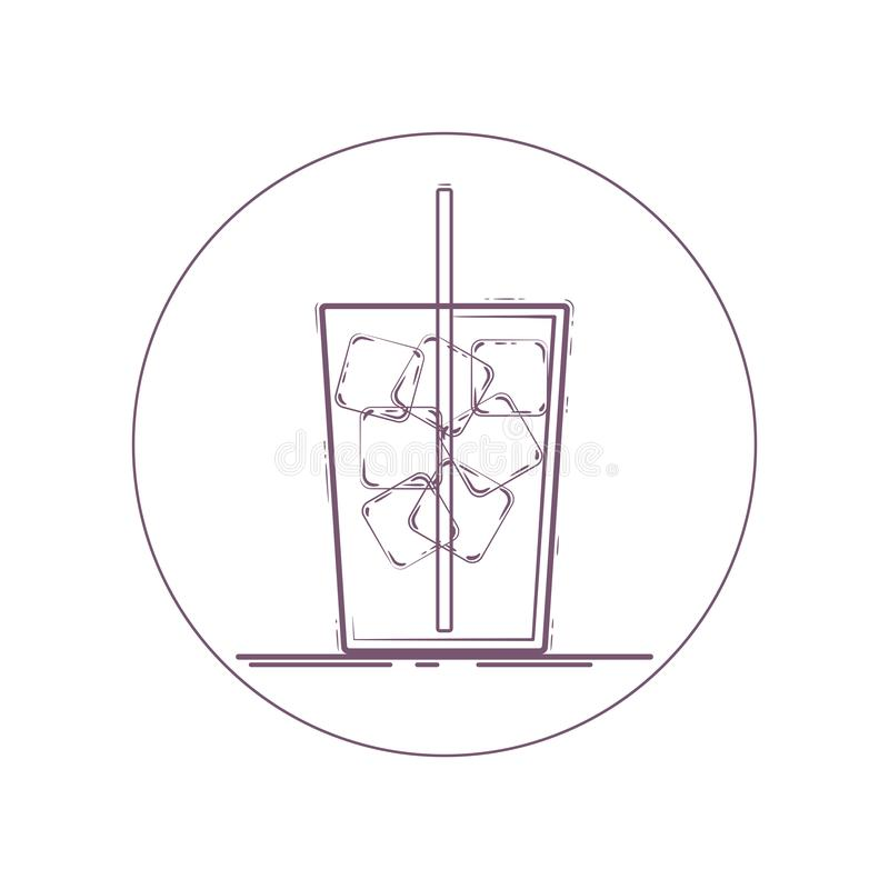 Iced drink vektor illustrationer
