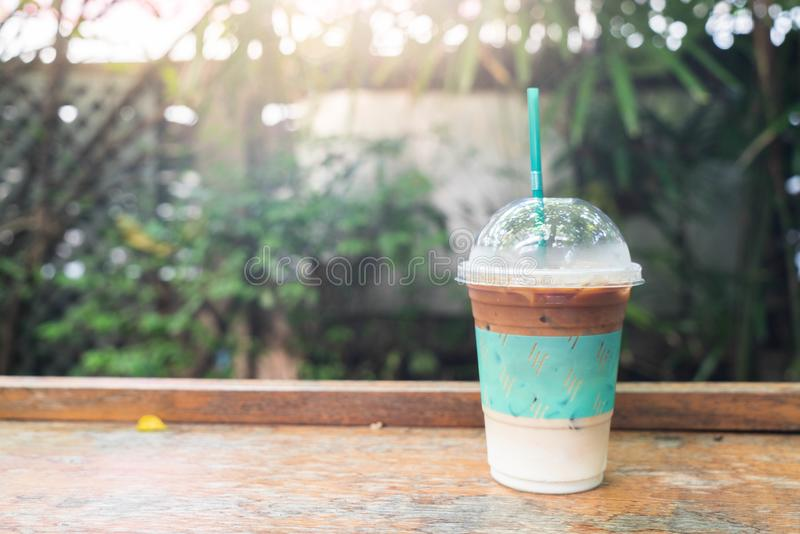 iced expresso coffee stock photos