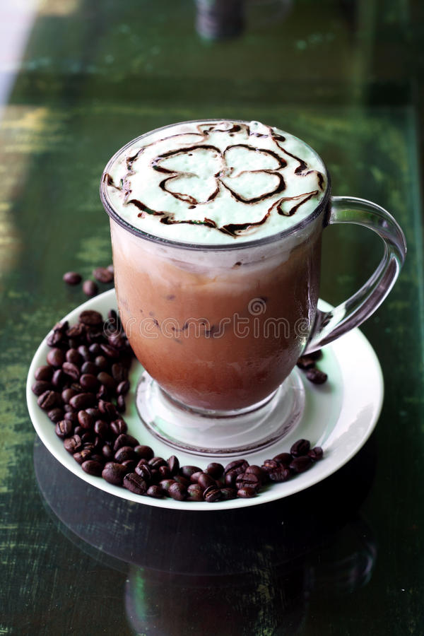 Download Iced mocha stock image. Image of froth, closeup, brewed - 22543239