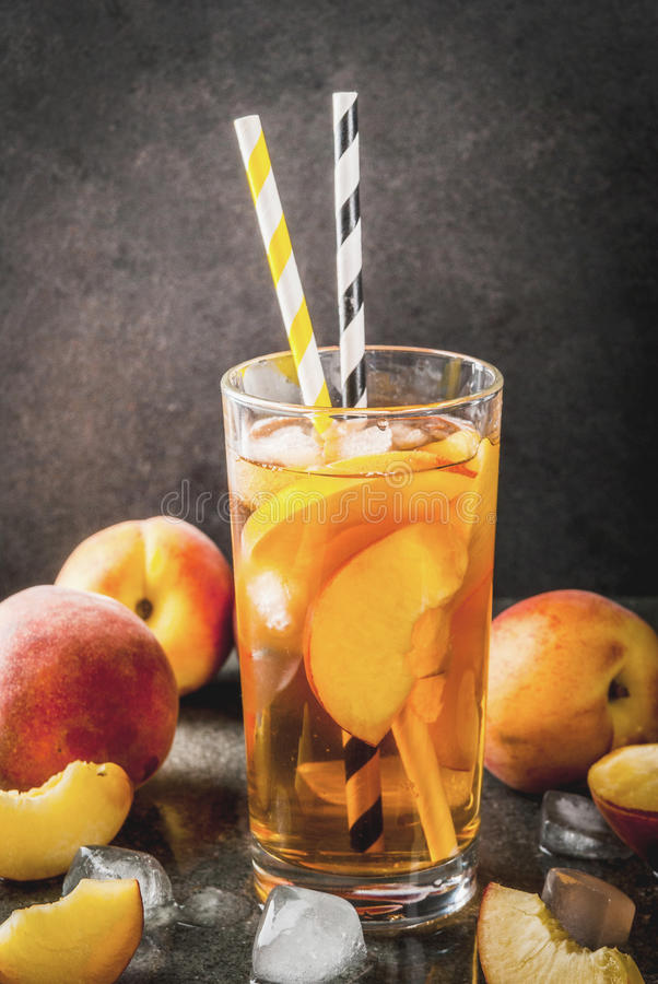 iced peach tea stock photo image of background sour 96106560