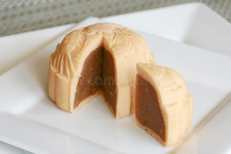 Iced skin mooncake stock images