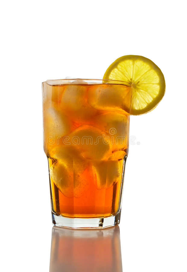 Iced Tea and Lemon stock photos