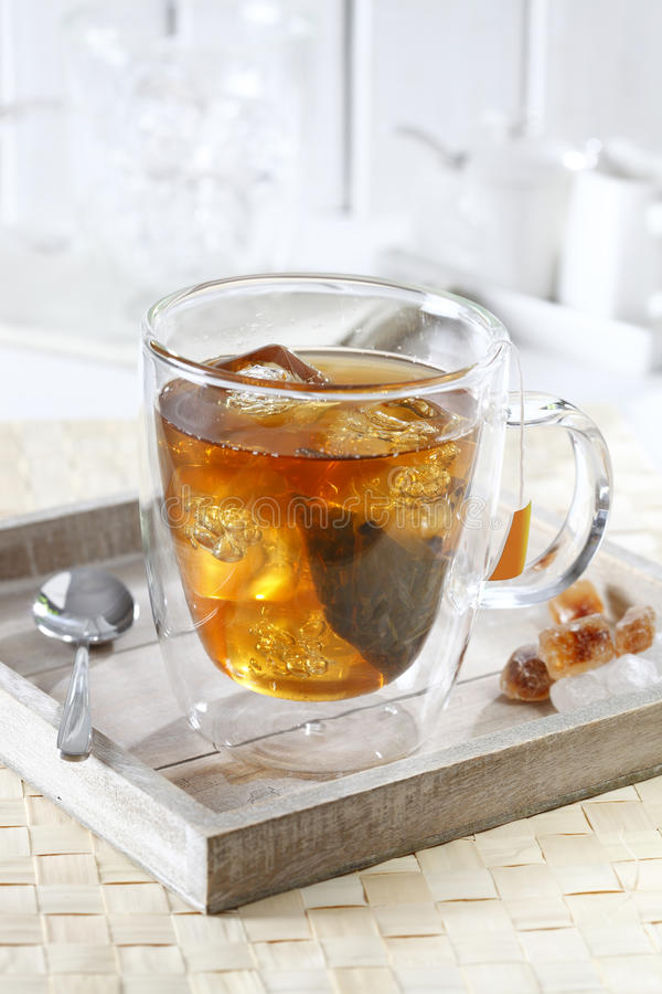 Download Iced tea on tray stock photo. Image of refreshing, ice - 27925312