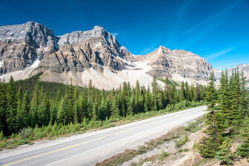 Icefield Parkway In Banff National Park Stock Photography