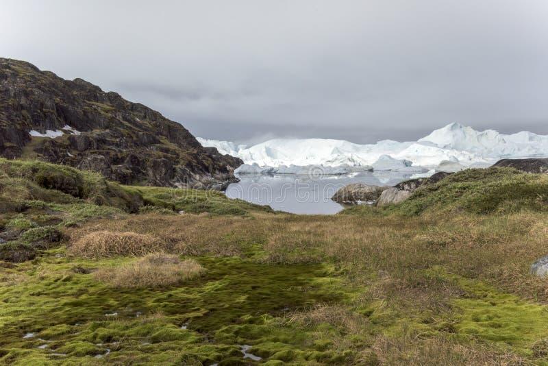 Icefjord伊卢利萨特,格陵兰 图库摄影
