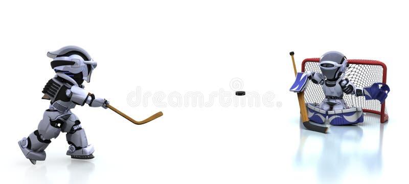 icehockey bawić się robot royalty ilustracja