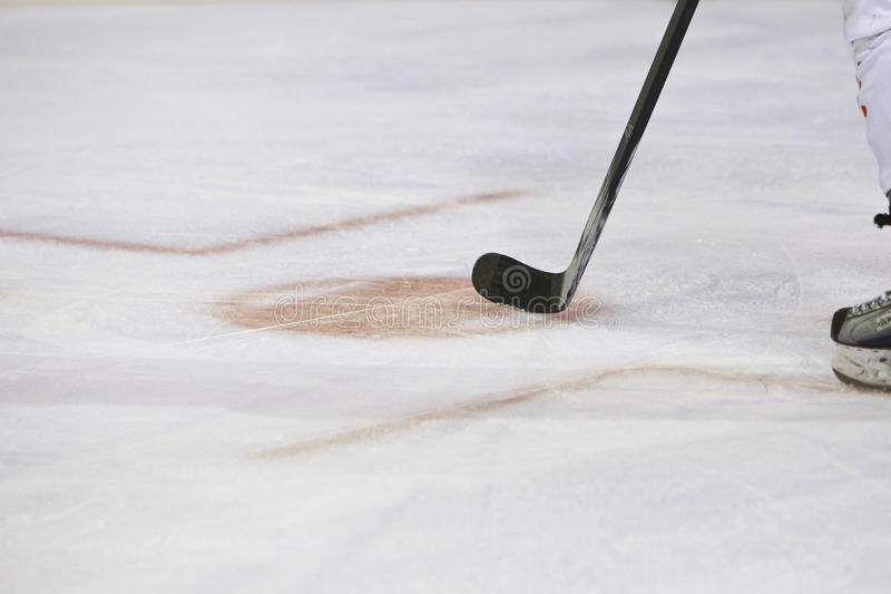 Icehockey Stick. A Stick is ready for the Puck stock images