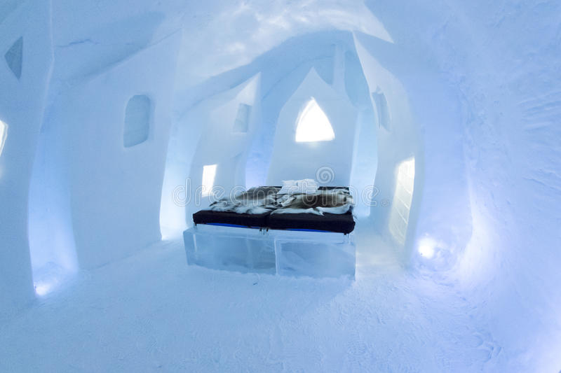 Icehotel in jukkasjarviç. Sweden stock images