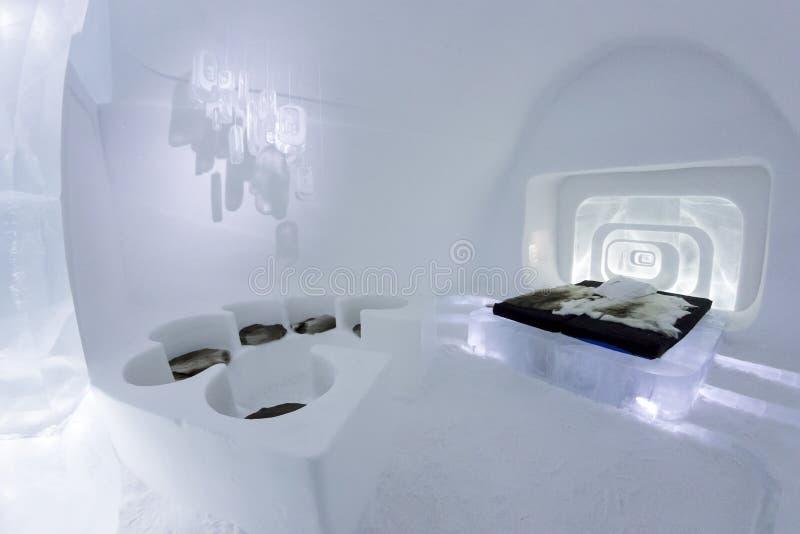 Icehotel w jukkasjarviç Szwecja zdjęcie royalty free