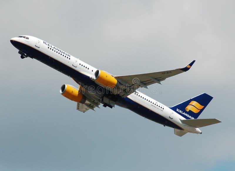 Iceland Air Plane Take Off stock photos
