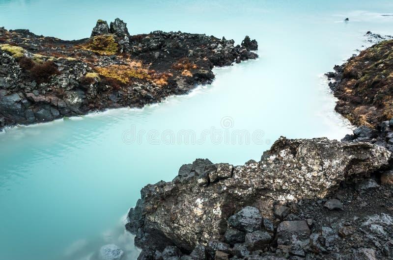 Iceland, Błękitna laguna, naturalny geotermiczny zdrój zdjęcie stock