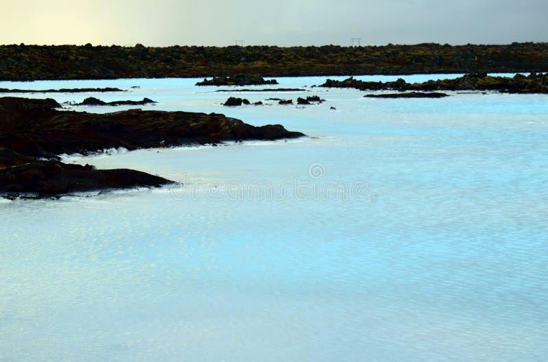 iceland błękitny laguna zdjęcie royalty free