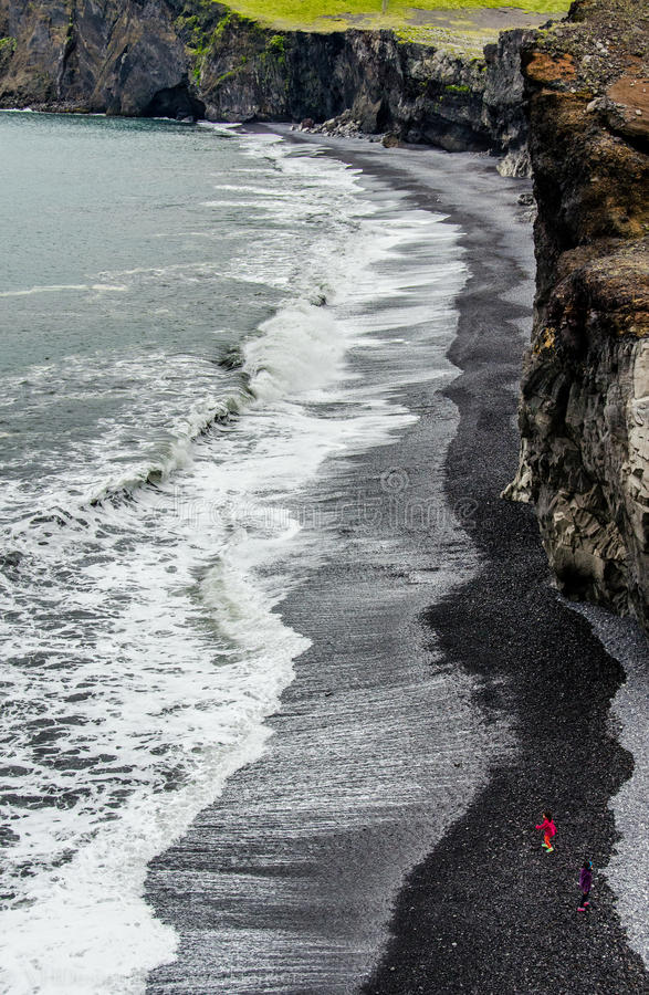Iceland beach royalty free stock photography