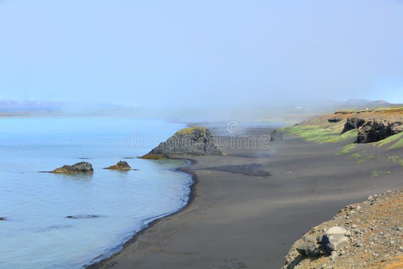 Iceland black sand beach. Landscape royalty free stock images