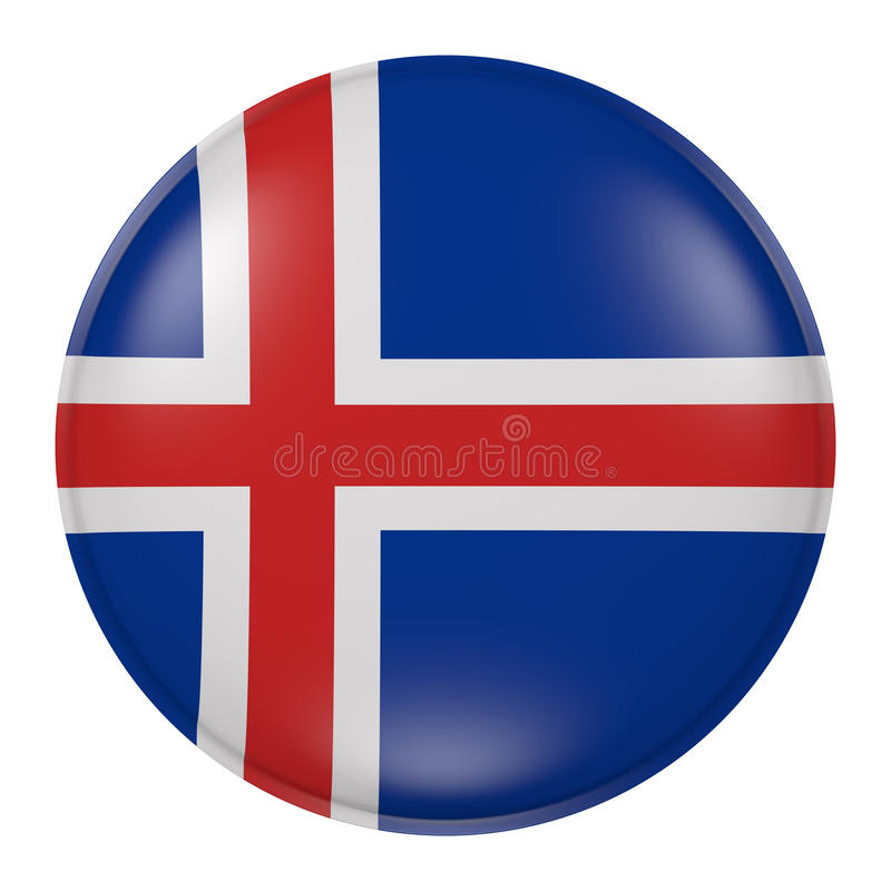 Iceland button royalty free illustration