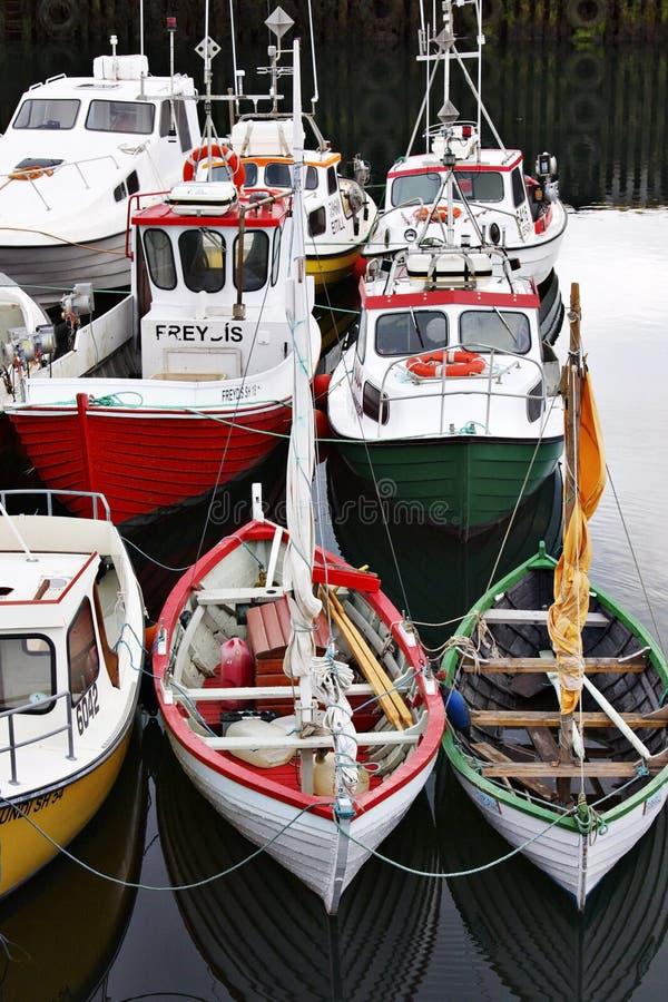 Iceland: Fishing boats stock images