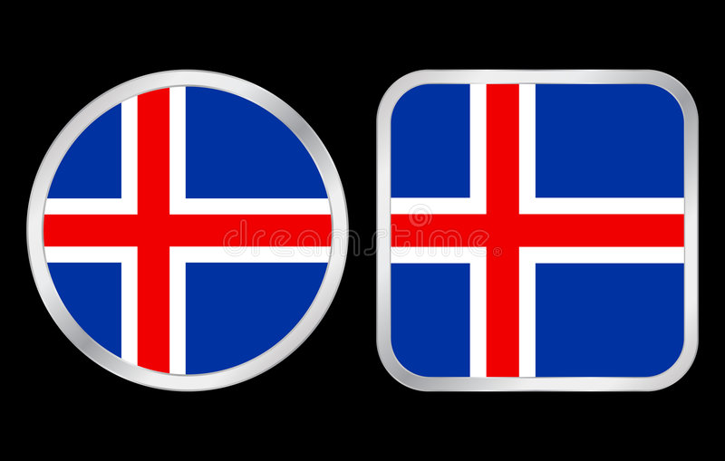 Download Iceland flag icon stock vector. Image of grey, national - 5416399