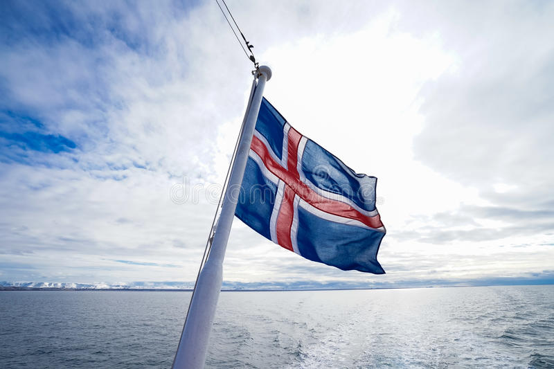 Iceland flag royalty free stock photo