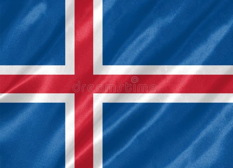 Iceland flaga royalty ilustracja