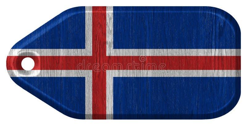 Iceland flaga ilustracja wektor