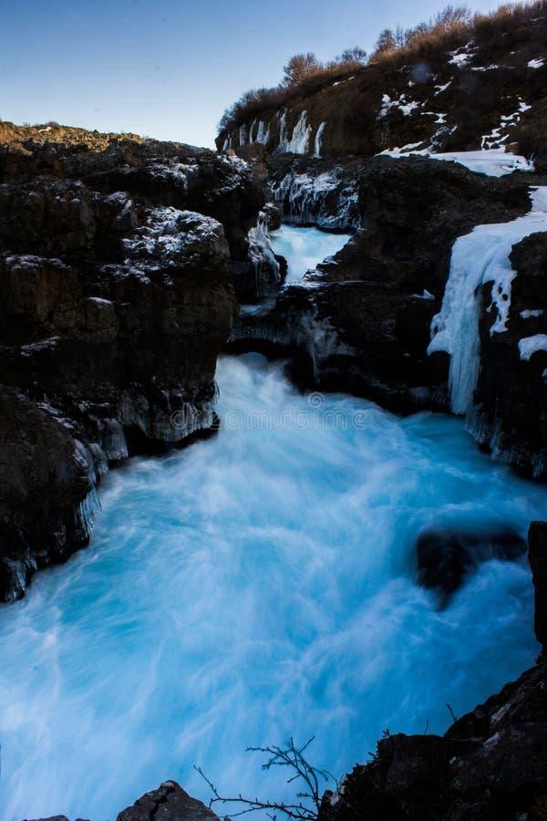 iceland flod royaltyfri fotografi