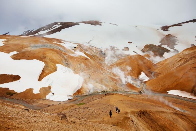 Iceland geotermiczny gorącej wiosna pole Kerlingafjoll obraz royalty free