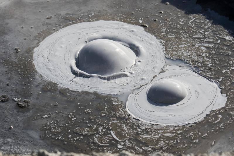 Iceland geothermal zone Namafjall - area in field of Hverir. Landscape which pools of boiling mud and hot springs. Tourist and. Iceland geothermal. Namafjall stock images