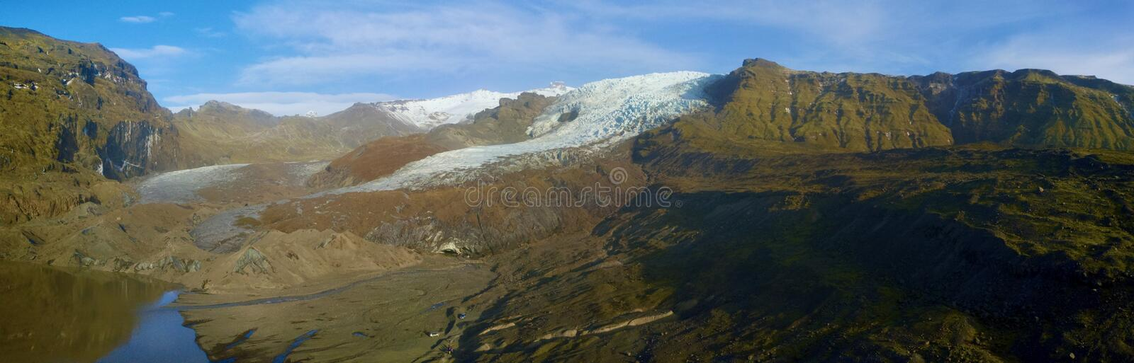 Iceland Glacier Cave a bird eye aerial view from drone stock photos