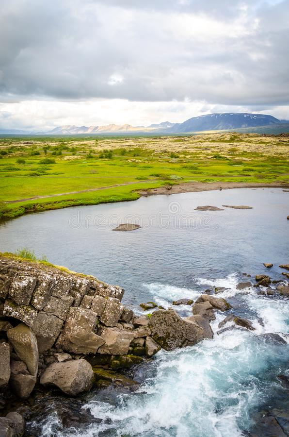 Landscape in Iceland, golden circle stock photo