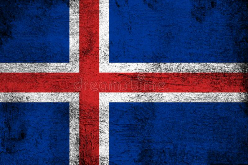 Iceland. Grunge and dirty flag illustration. Perfect for background or texture purposes stock illustration