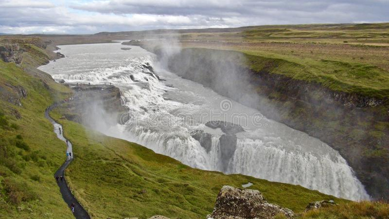 Iceland i Gullfoss, Złoty okrąg obraz royalty free