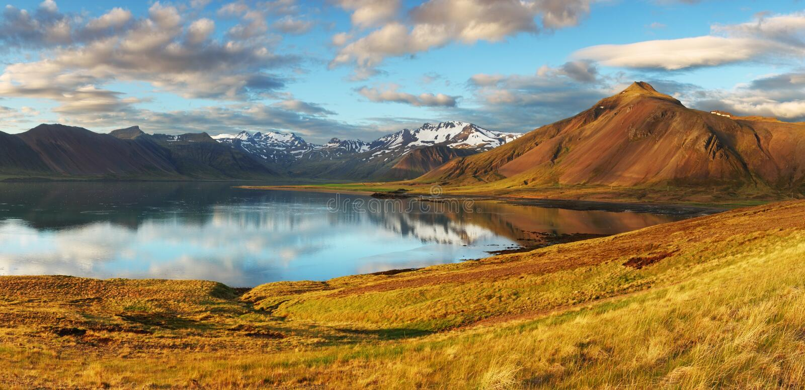 Iceland landscape. As a panorama royalty free stock photo