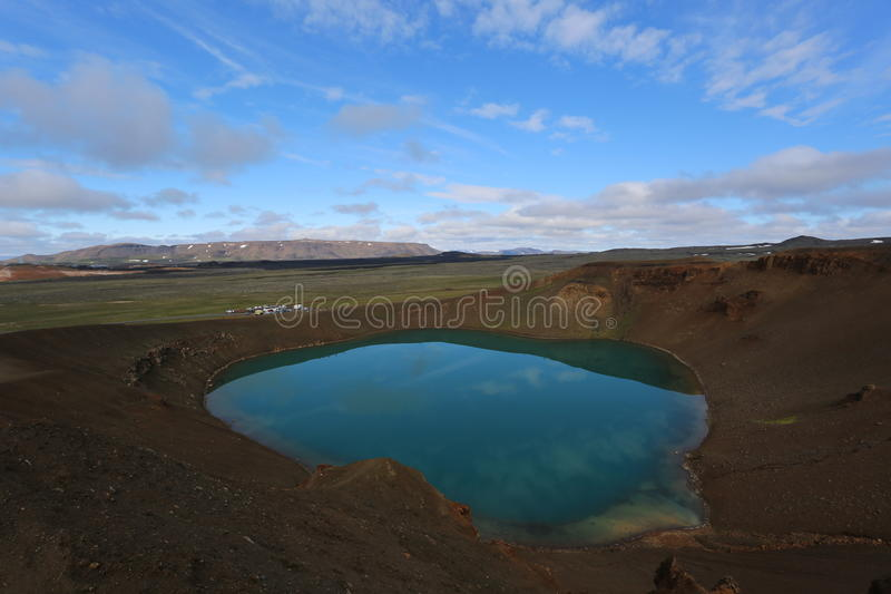 Iceland landscape natural tarn royalty free stock images