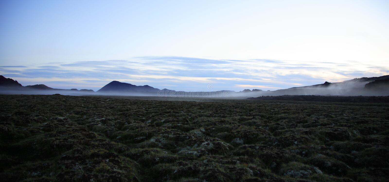 iceland liggande arkivbilder