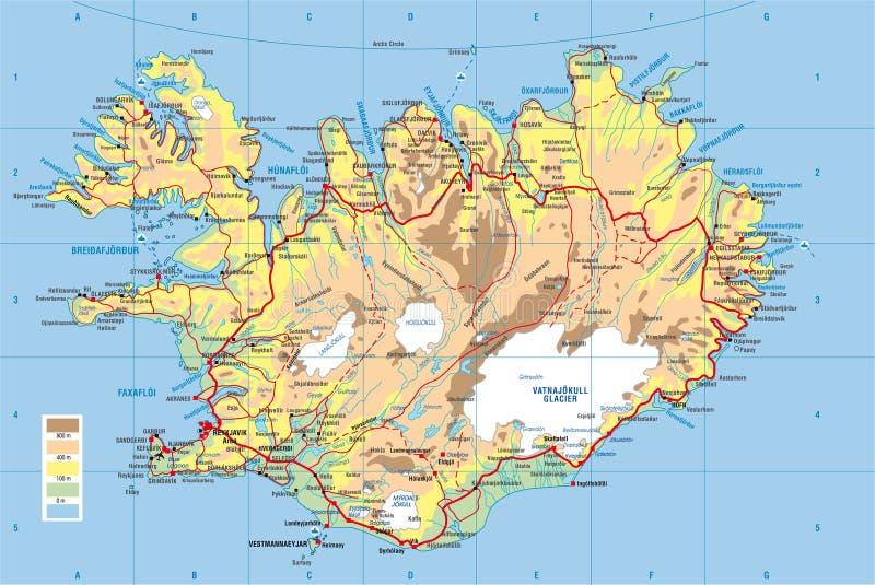 Iceland map stock illustration