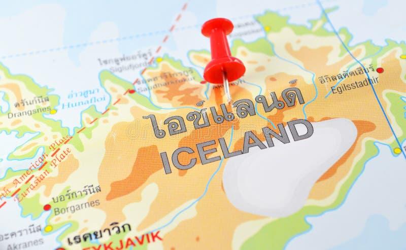 Iceland mapa obraz royalty free