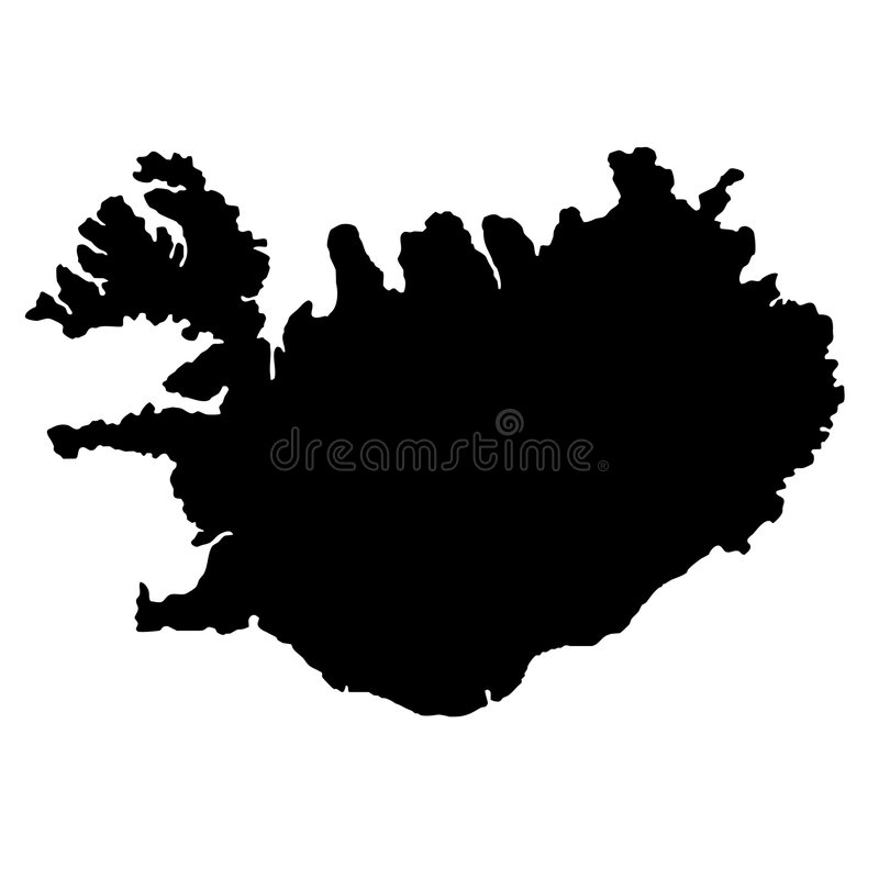 iceland mapa ilustracja wektor