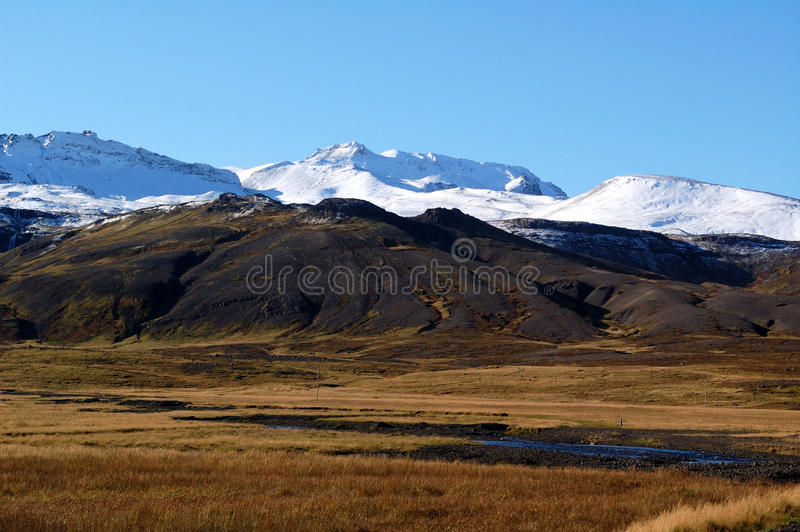 The Iceland mountain royalty free stock image