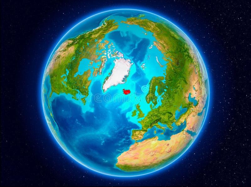 Iceland na ziemi royalty ilustracja