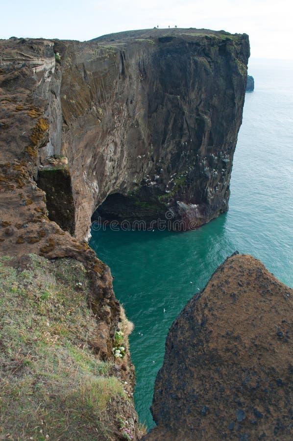Iceland, Northern Europe, Dyrholaey, arch, Vik, nature, landscape, climate change royalty free stock photo