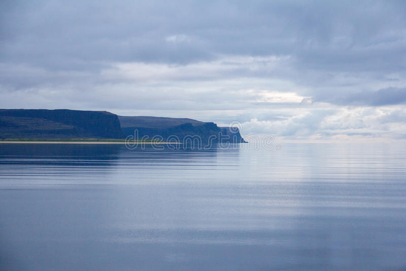 Iceland ocean at midnight stock photography