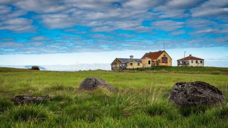 Iceland - Old Abandoned House and Farm - Borgarnes. Iceland royalty free stock images
