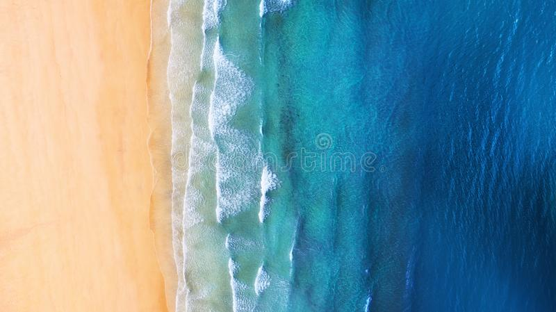 Iceland. Panoramic aerial view on the coast line. Beach and sea from air. Famous place in Iceland. Summer seascape from drone. royalty free stock photography