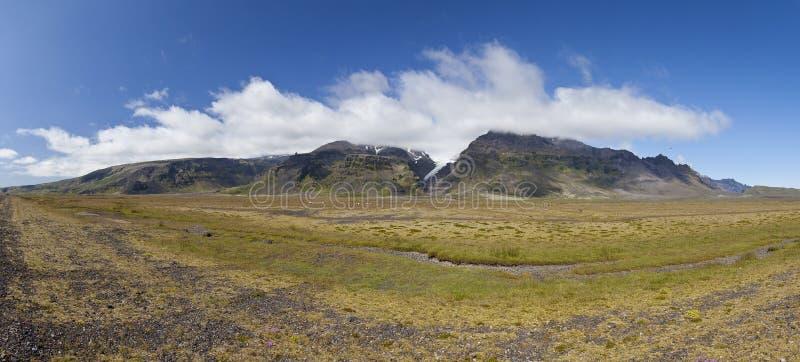 Iceland Panoramic Mountain Landscape Royalty Free Stock Photo